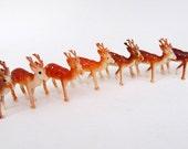 Vintage Miniature Deer Fawn Set of 7