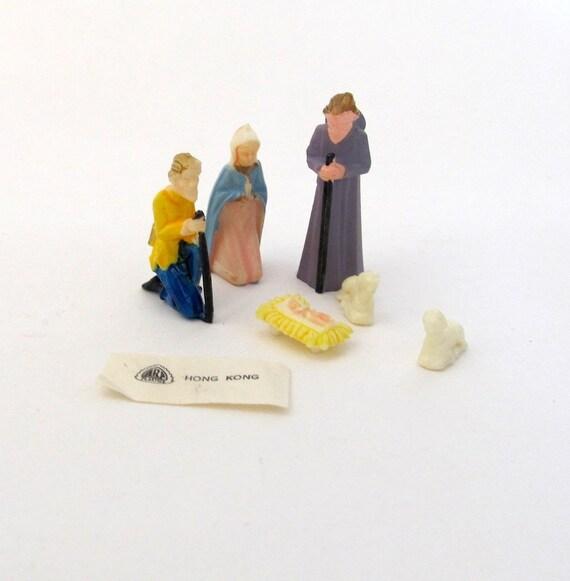 SALE Vintage Miniature Nativity Set