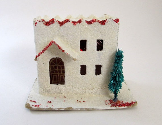 Vintage Mica Putz House Christmas Village