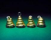 happy poo Golden lucky charm pendant