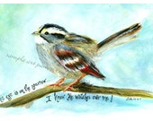 His Eye is on the Sparrow 5x7 Print