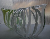 Hand Blown Glass Space Pitcher Tandem Glass