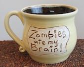 HUGE Zombies Ate My Brain Mug Chocolate Covered Banana 20 oz.