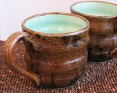 Large Mugs in Chocolate Mint