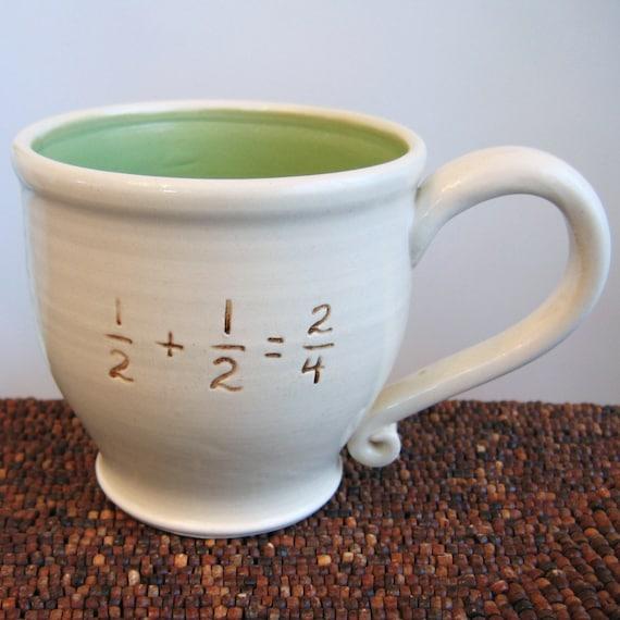 Incorrect Math Mug in Apple Green 16 oz. - Coffee Mug for Geeks or Teachers
