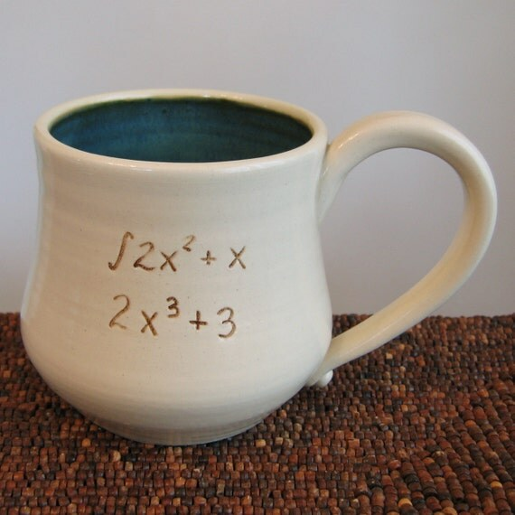 Incorrect Math Mug in Speckled Ocean 18 oz. - Large Coffee Mug for Geeks or Teachers