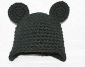 Unique handmade Mickey Mouse winter hat with extended flap to cover ears