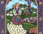Summer Maiden Large Paper Giclee by Dee Sprague