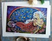 Mermaid Hugs      An Every Day Greeting Card           Art of DEE