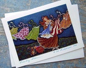 WILD WASHER WOMAN  GREETING CARD aceo  ART by DEE SPRAGUE