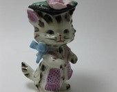 Little Miss Prissy Vintage Cat Figurine