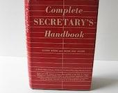 Vintage 1950s Complete Secretary's Handbook by Lillian Doris & Besse May Miller