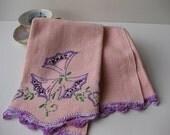 Peachy Vintage Floral Tea Towel