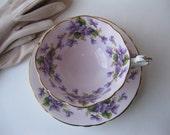 Discount Vintage Paragon Fine Bone China Violet Footed Teacup & Saucer