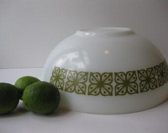 Vintage Pyrex Square Verde Large 4 Qt Cinderella Mixing Bowl