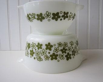 Vintage Pyrex Spring Blossom  Baking Dish and Cinderella Bowl