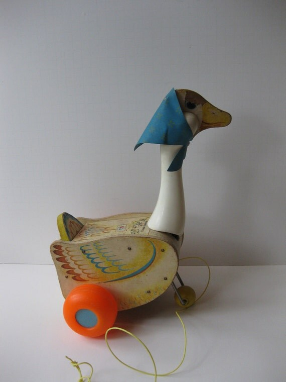 Vintage Toys From The 60s : Vintage s fisher price mother goose adorable pull by