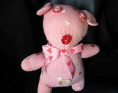 Reserved for Wld Violets Valentine the Pink Handmade Glove Puppy