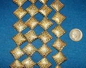 Unique Flat Diamond shaped gold bead