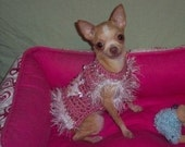 CROWN PRINCESS dog sweater with Jeweled Crown - 2 to 20 lb dogs- Prince Avail- Made to order