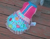 SWEET SURRENDER SKIRTTER with organza ruffle - Will custom make for 2 to 20 lb dogs - So sweet