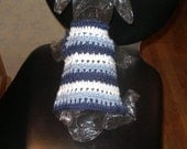 CASUAL FRIDAY or MANGO Friday- striped dog sweater - Choose colors - Made to order - 2 to 20 lb