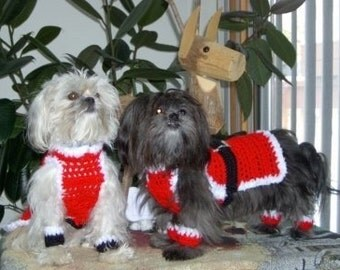 SANTA PAWS - Christmas sweater with anklets - 2 to 20 lb dogs - made to order
