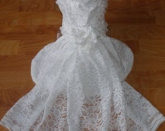 Custom Dog WEDDING dress or outfit - bride groom bridesmaid - prices vary by size and number of pieces