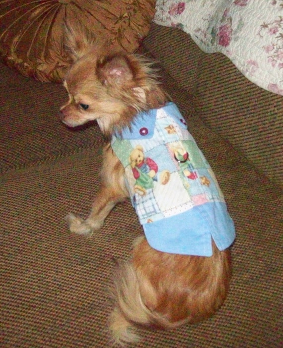 Dog Harness Vest - I LOVE TEDDY -2 to12 lbs - Made to order