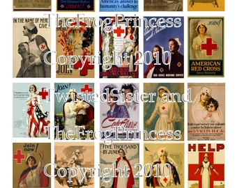 Vintage Nursing Posters Collage Sheet - Digital Delivery or Hardcopy