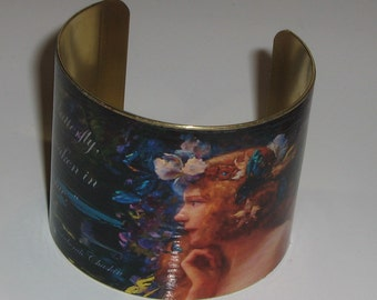 Vintage Style Art Cuff Bracelet - The Birth of the Butterfly