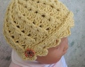 Crochet Hat Pattern Infant-Toddler Spiral Ribbed Hat Instant Download