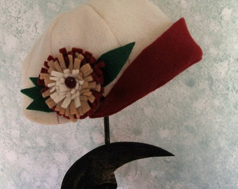 Baby Flapper Hat Pattern With Felt Flower Trim PDF  May Resell Finished