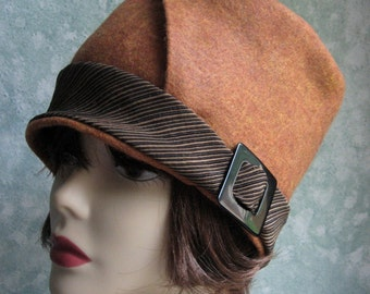 Womens Flapper Hat Pattern- Felt With Bias Cut Brim Chemo Hair Loss Hat Pattern Easy To Make Instant Download