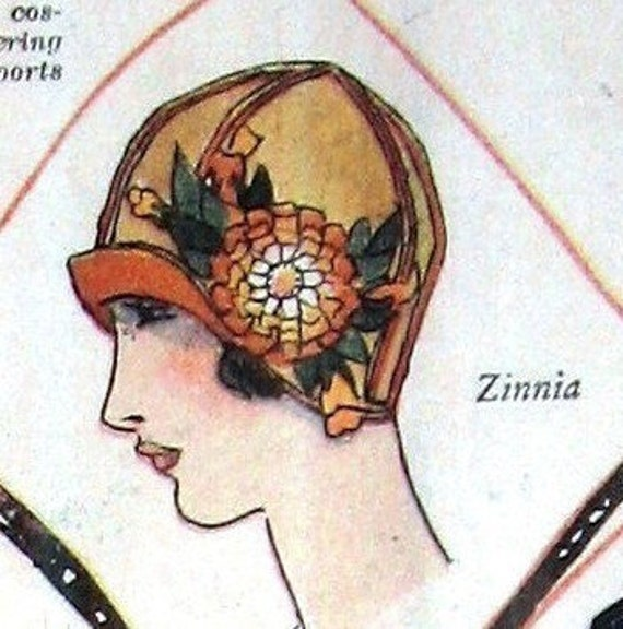 reserved for scathachofskye circa 1922 Flapper Hat Making Patterns- eBook PDF 7 Different Hats Make For Resale