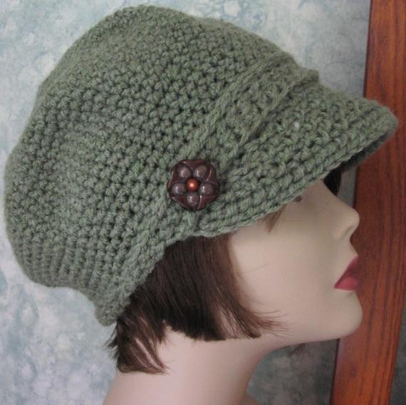 Womens Newsboy Hat Crochet Pattern Pdf Easy To Make Resell