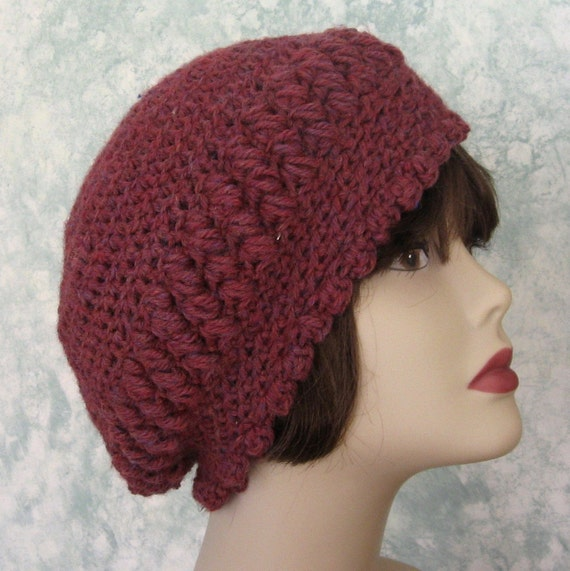 Womens Slouch Hat Crochet Pattern Bohemian Style Pdf Easy To