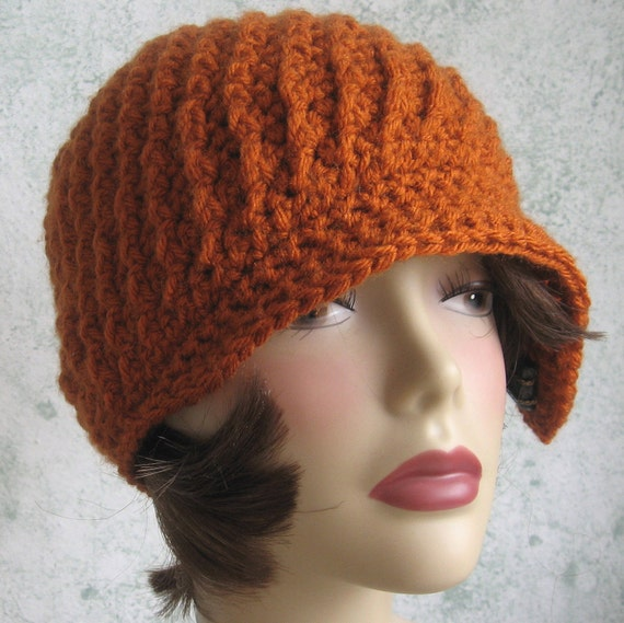 Crochet Hat Pattern Spiral Rib With Flapper Style Brim