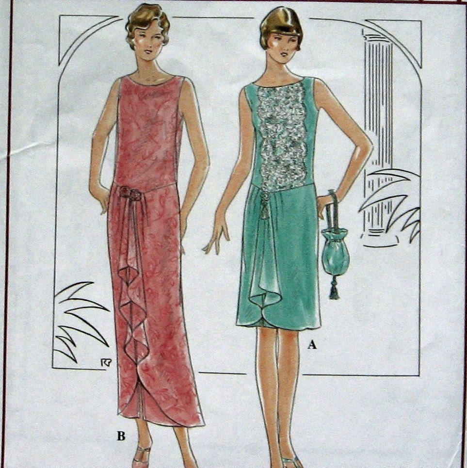 SEWING PATTERN Womens FLAPPER Style Full Figure Dress With