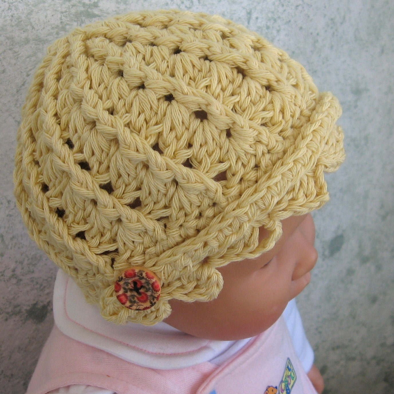 Crochet Ribbed Hat : Crochet Hat Pattern Infant-Toddler Spiral Ribbed by kalliedesigns
