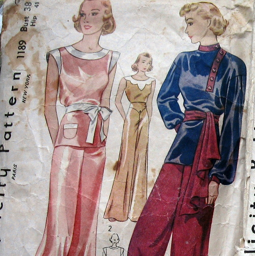 1930 hair style sewing pattern vintage 1930 40s womens high by kalliedesigns 5499 | il fullxfull.230579977