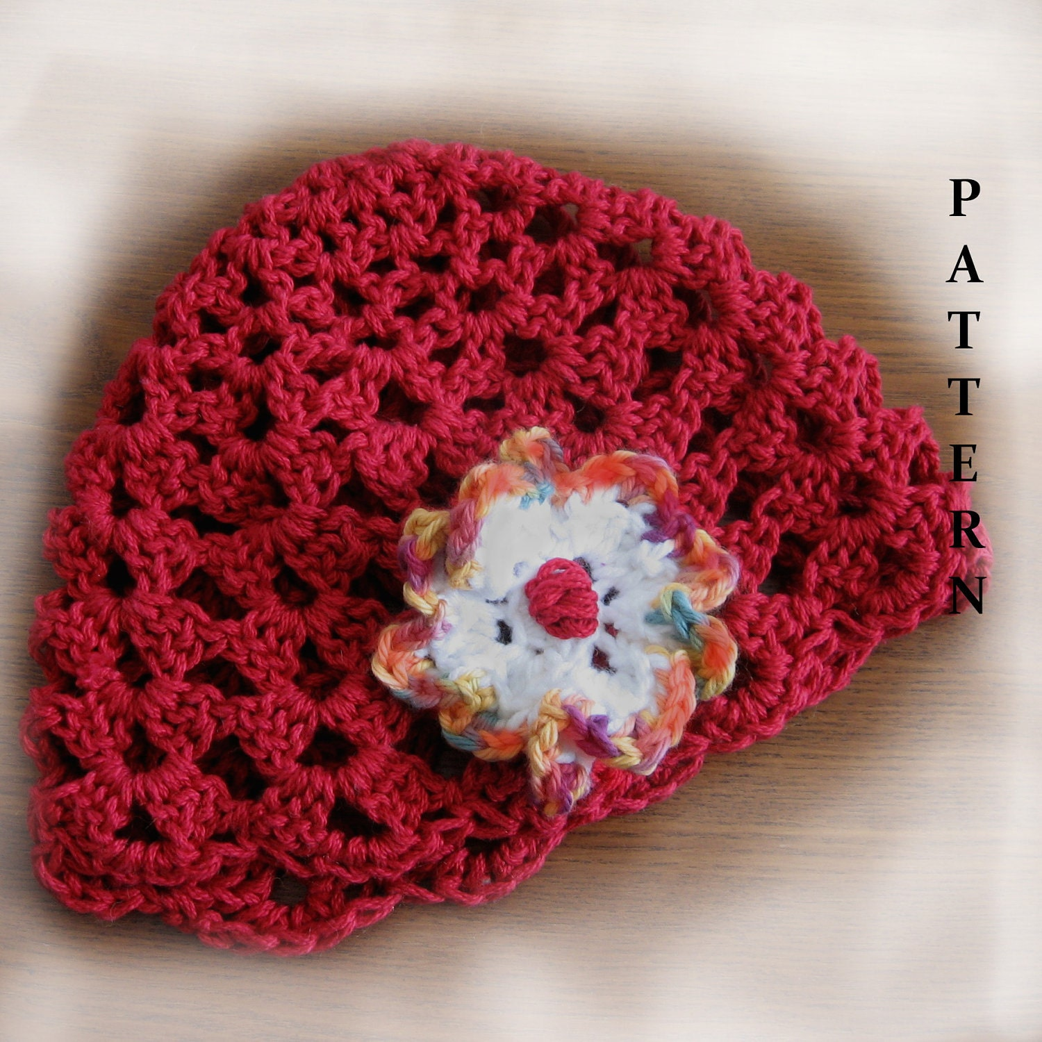 Crochet Shell Beanie Hat Pattern : Womens Crochet Hat Pattern Shell Beanie With by kalliedesigns
