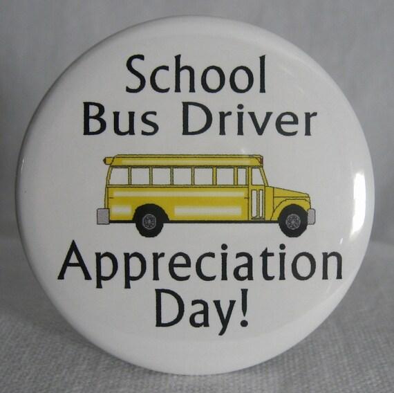 SCHOOL BUS DRIVER Appreciation Day PinButton 2