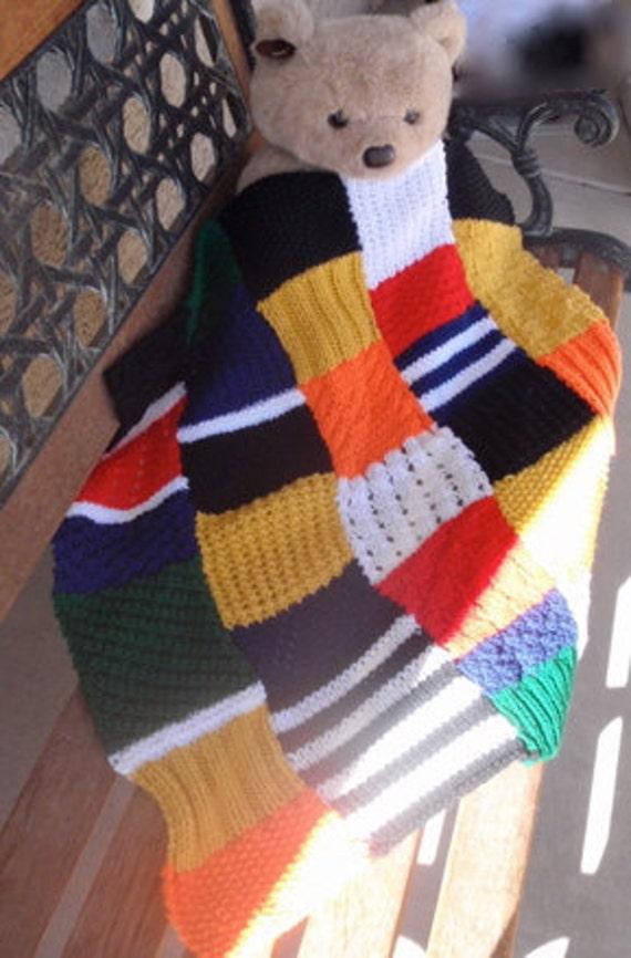 multi couleur patchwork couverture de b b en tricot main. Black Bedroom Furniture Sets. Home Design Ideas