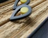 Teardrop Earrings in Acrylic with Silver fittings