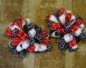 Firecracker Cutie Pigtail Loopy Bows