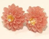 Peach Mum Earrings Studs
