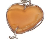 Heart and Bird Pairpoint Glass Necklace