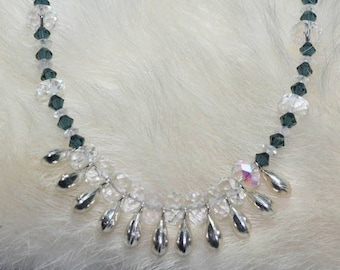 Necklace Sterling Silver Gemstones and Crystals