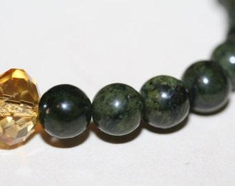Mossy Agate Beaded Bracelet